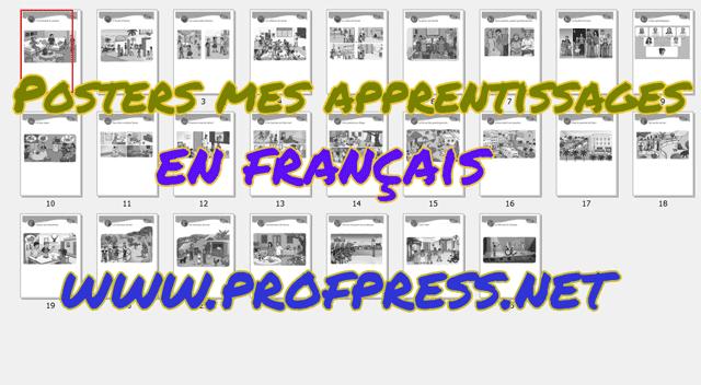 Posters mes apprentissages en français 2aep