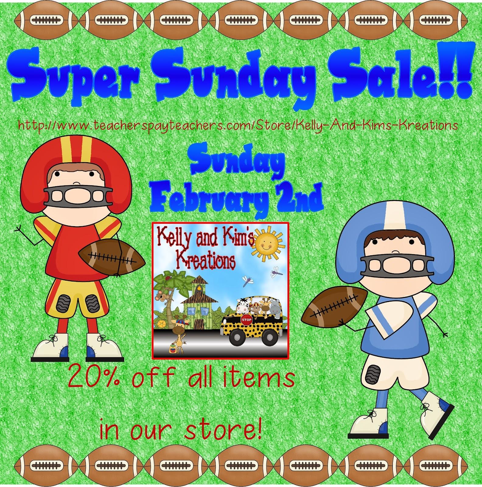 Kelly And Kim S Kindergarten Kreations Super Bowl Sunday