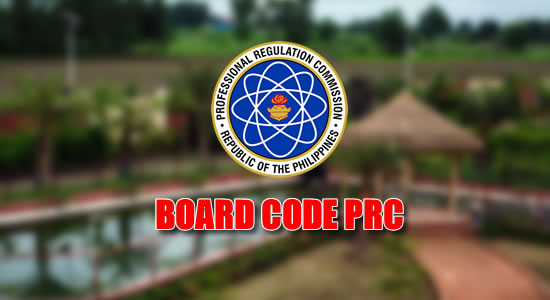 List of Board Codes listed on PRC website