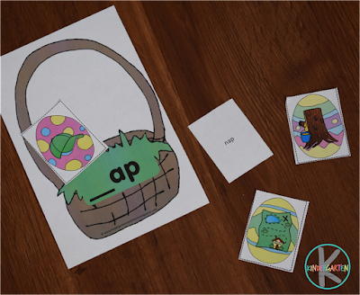 easter word family activity