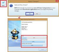 Gambar 6 Cara Partisi Memory Card Menjadi Fat32-Ext2- Linux Swap Menggunakan MiniTool Partition