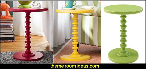 Phyllidia End Tables  fun and funky - cute and colorful  - chic and trendy decorating ideas - unique decor - girls bedroom decor - colorful decor  - decorating with color - color inspiration decorating ideas - colorful bedrooms - colorful furniture - colorful bedding -