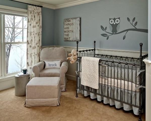 dormitorio gris crema bebé