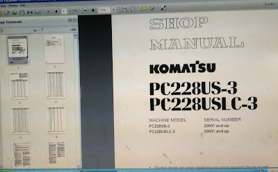 KOMATSU EXCAVATOR SHOP MANUAL PC228US-3
