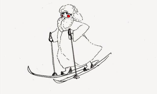 Эвелина Васильева. Лыжник