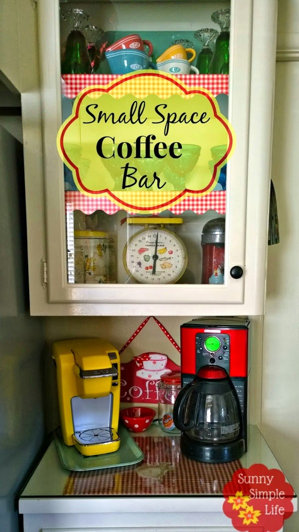 small coffee bar, vintage kitchen
