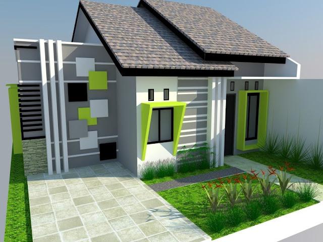 Contoh Kombinasi Cat Rumah Minimalis Warna Hijau