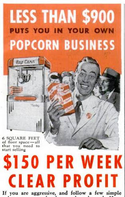 Less than $900 puts you in your own popcorn business