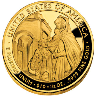 United States Gold Coins Louisa Adams First Spouse $10 Dollars Gold Coin