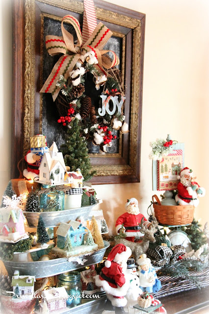 Priscillas Christmas Vignettes In The Family Room