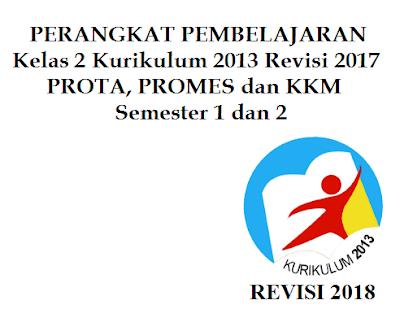 Prota, Promes dan KKM SD/MI Kelas 2 K13 Revisi 2017 Semester 1 dan 2