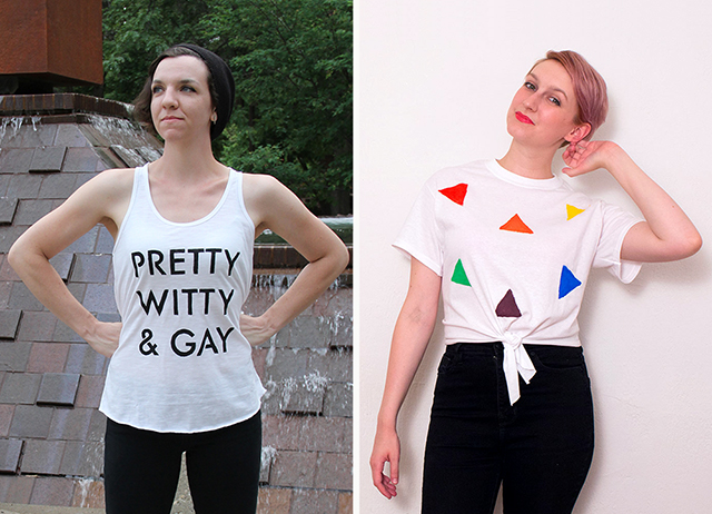 Two Pride shirt tutorials!