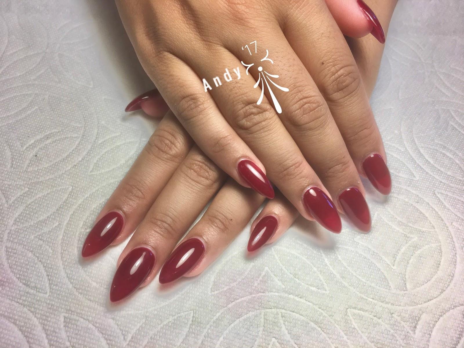 Full set gel color nails