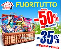 Logo Eccezionale Fuoritutto di Casa Henkel: sconto fino al 50% detersivi e - 35% Vitakraft e Vileda