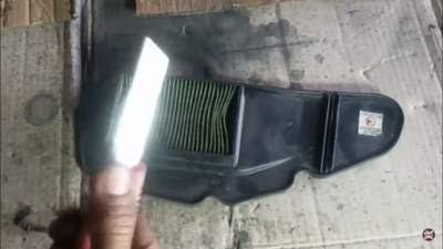 cara membersihkan filter motor honda beat