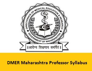 DMER Maharashtra Professor Syllabus