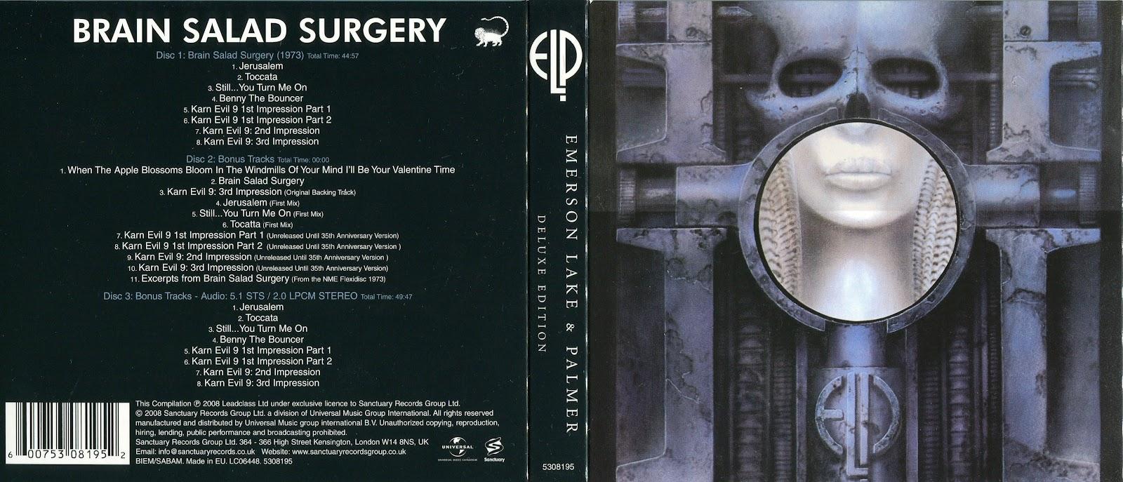 Emerson Lake & Palmer 1973 Brain Salad Surgery (SACD-R