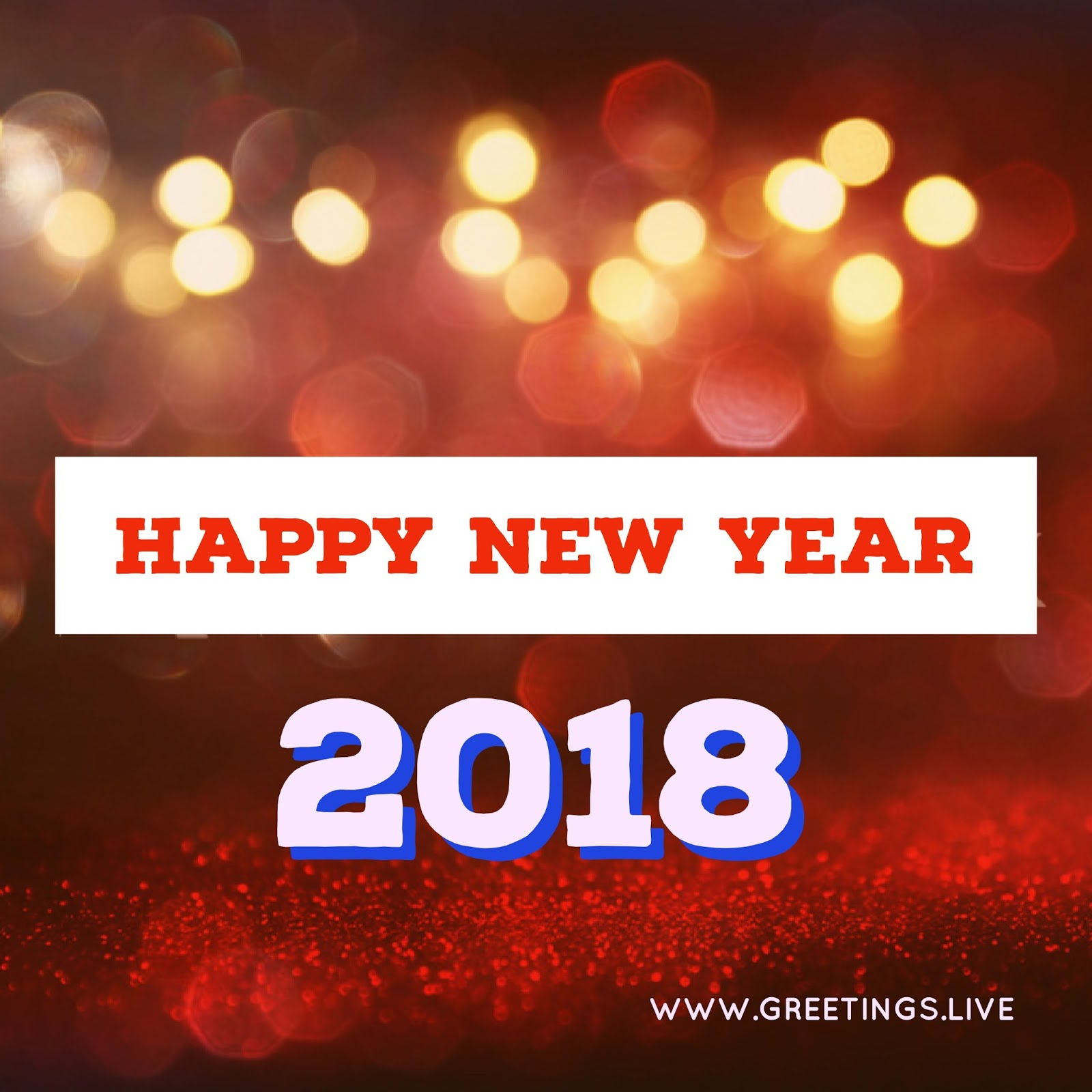 Beautiful Red Sparkling 2018 Background Happy New Year