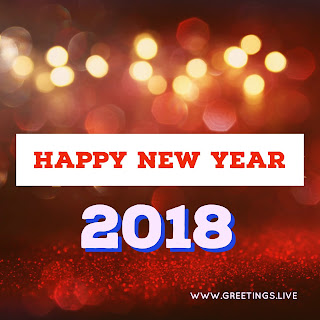Red Sparkling  2018 background Happy New Year