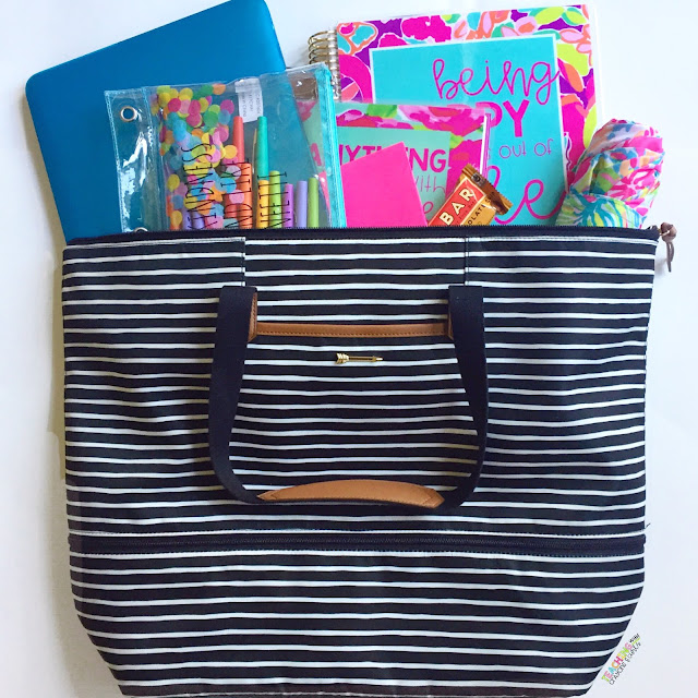 teacher bag  The Best (and Prettiest) Teacher Bag EVER! - Teaching With Crayons ...