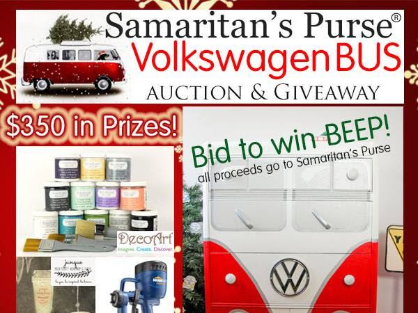 Christmas Ideas Tour and Samaritan's Purse VW Auction Giveaway