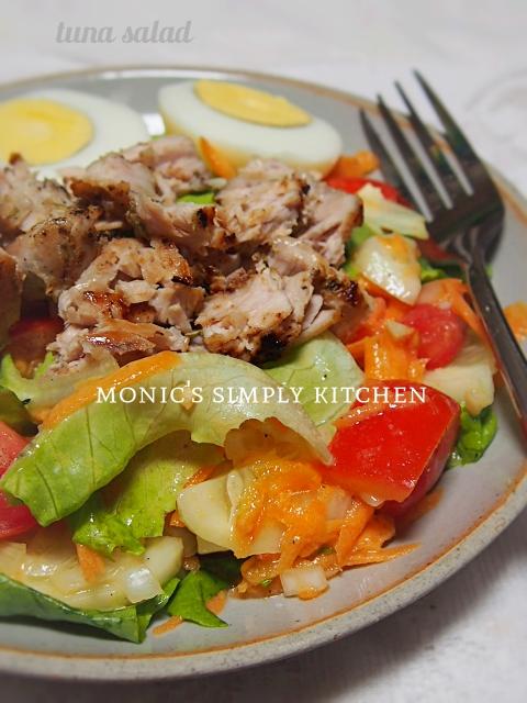 cara buat salad tuna