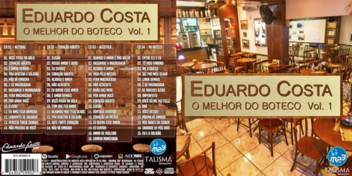 Eduardo Costa Box O Melhor Do Boteco Vol 01 2017 Capa Cd Mundo Ftp