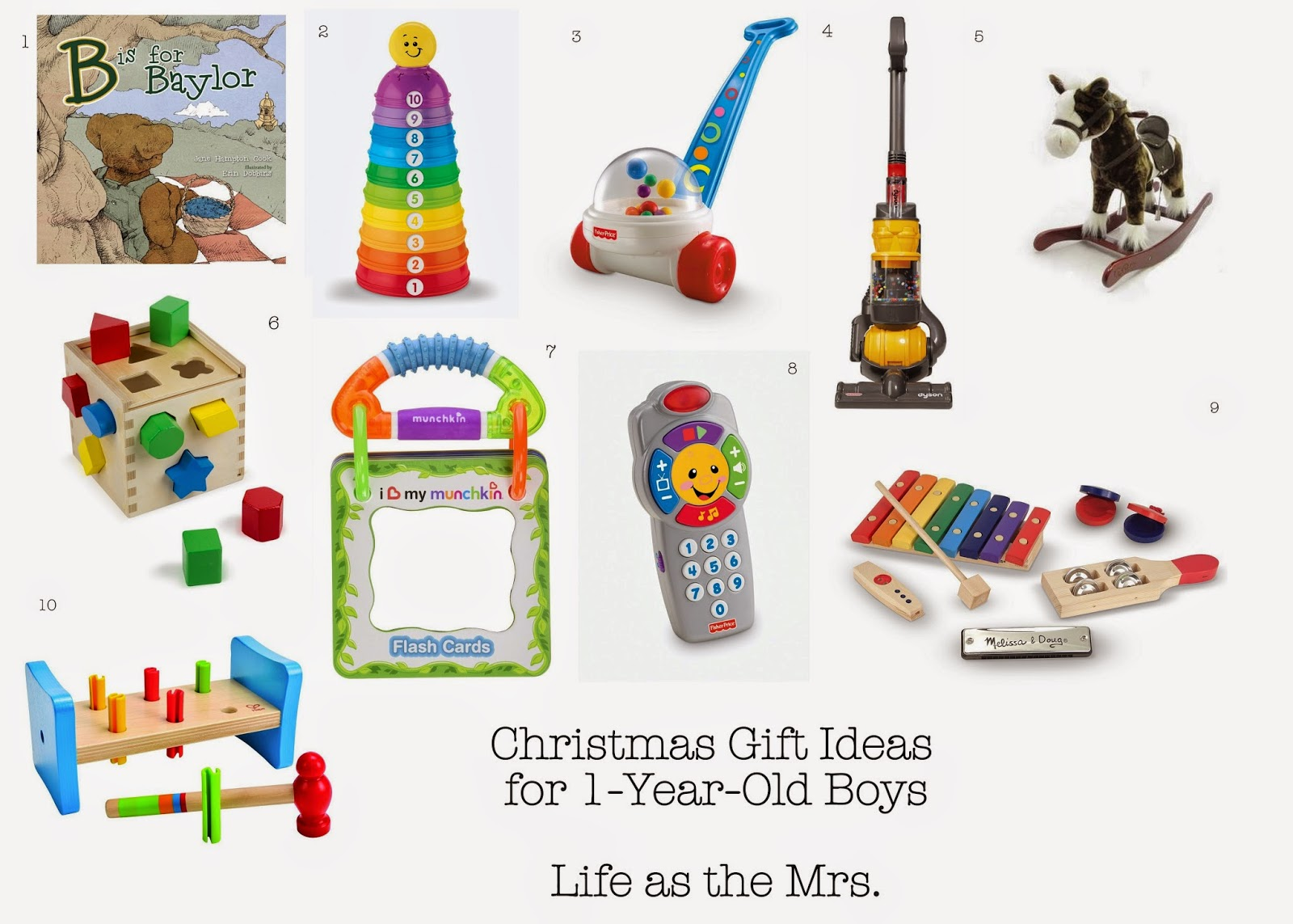 Christmas Gift Ideas For One Year Old Boys Life As The Mrs