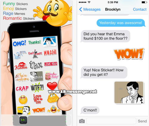 Los emoticones mas divertidos con Funny Emoji Stickers for kik
