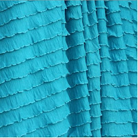 Turquoise Ruffle Shower Curtain
