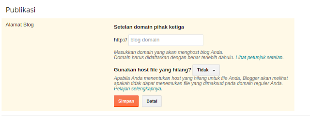Membuat Sub Domain Blogger Dari Custom Domain Blogspot
