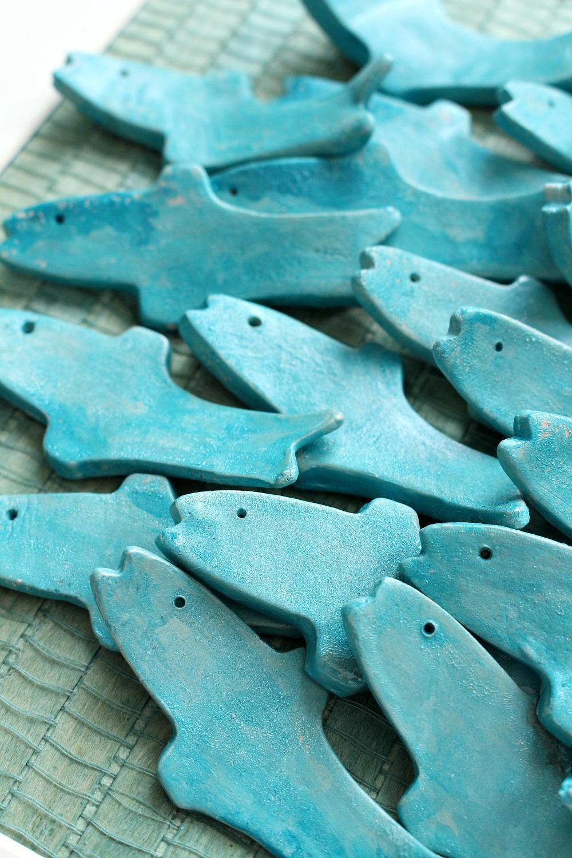 Easy Diy Clay Fish Art Modern Coastal Handmade Decor