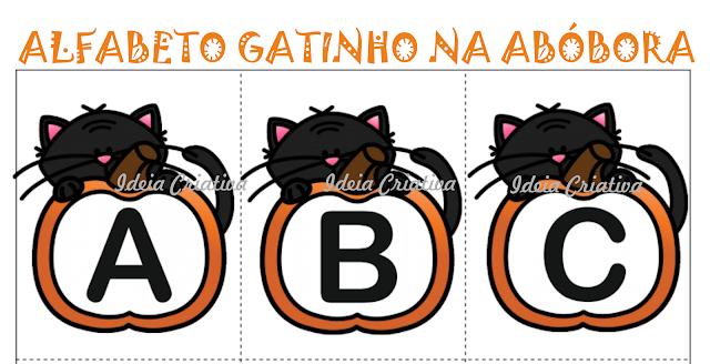 Flash Cards Alfabeto Gatinho Abóbora