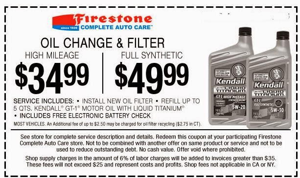 Firestone Complete Auto Care features a section on its website dedicated to offers and rebates. Firestone offers specials on buying new tires, maintenance services and oil changes. Discounts range from 10%% off%().