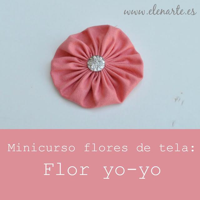 Flor de tela yo-yo