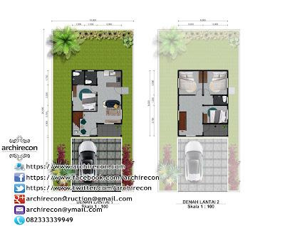 Hunian Minimalis Dengan Gaya Arsitektur Rumah Jawa - Denah