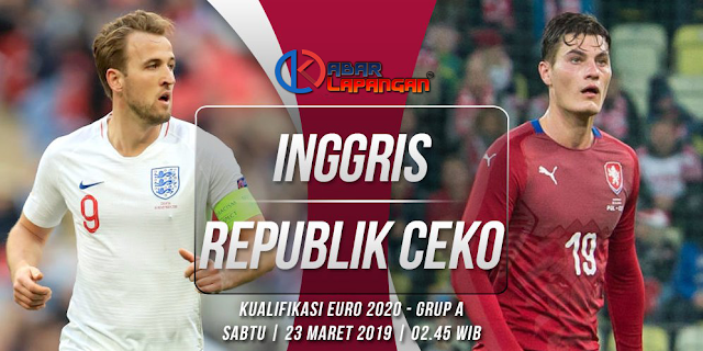 Prediksi Bola Inggris vs Republik Ceko Kualifikasi Euro 2020