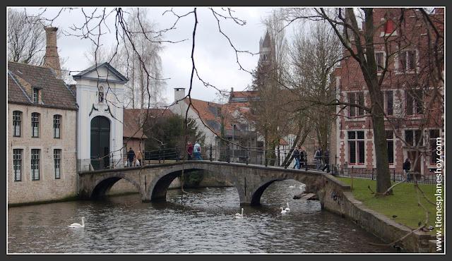 Vista beaterio Brujas Bélgica