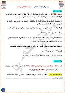 10 - زادي في الإنتاج الكتابي لمناظرة السيزيام