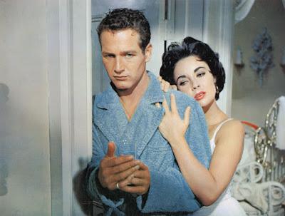 Paul Newman yElizabeth Taylor en 'La gata sobre el tejado de zinc'