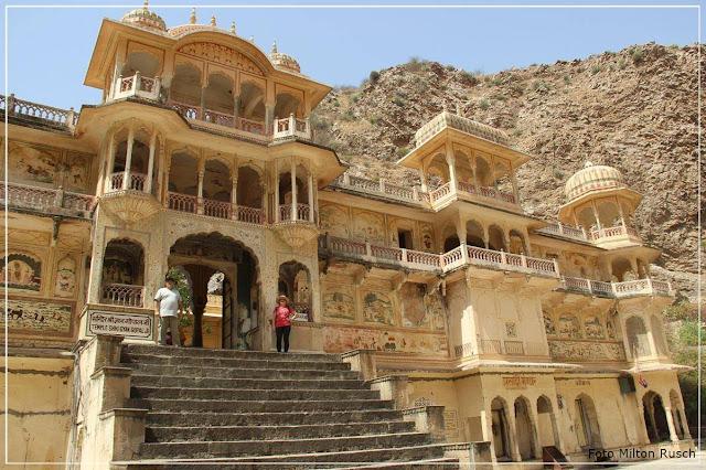 Milton e Fátima Rusch - Amber Fort - Jaipur - Índia