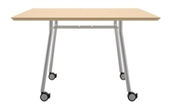 Square Meeting Table with Wheels