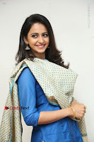 Actress Rakul Preet Singh Stills in Blue Salwar Kameez at Rarandi Veduka Chudam Press Meet  0099.JPG