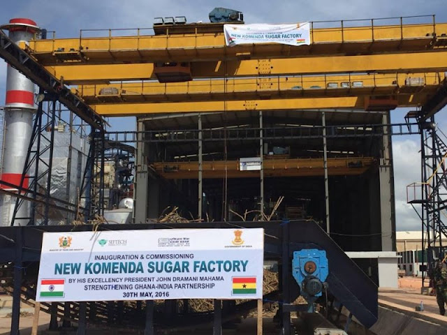 Cos 90, Komenda sugar factory shuts down to reopens