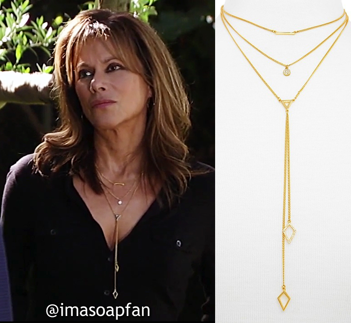 Alexis Davis. Nancy Lee Grahn, Layered Geometric Pendant Necklace, General Hospital, GH