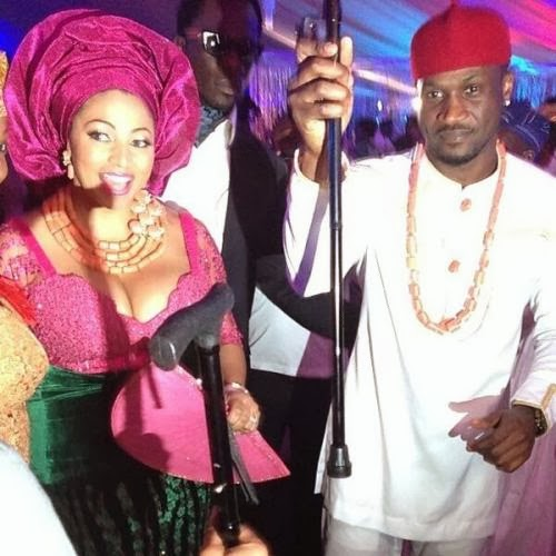 BZStBwlIMAANX0G Photos from Peter Okoye and Lola Omotayos traditional wedding