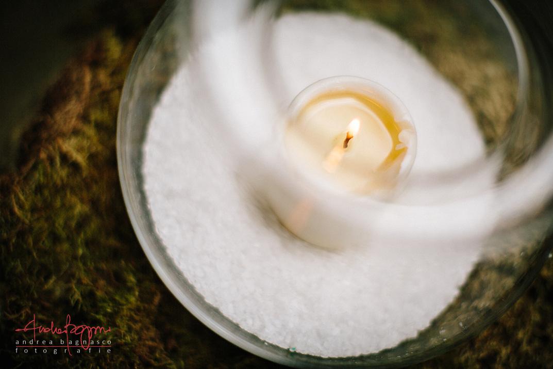 dettaglio matrimonio shabby chic candela