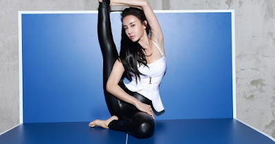 miya muqi chinese actress hot yoga