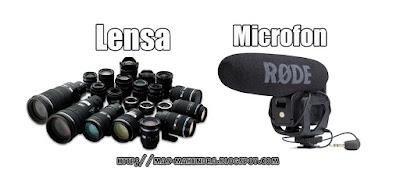 Aksesories Smartphone microfon, lensa, senter, lampu LED