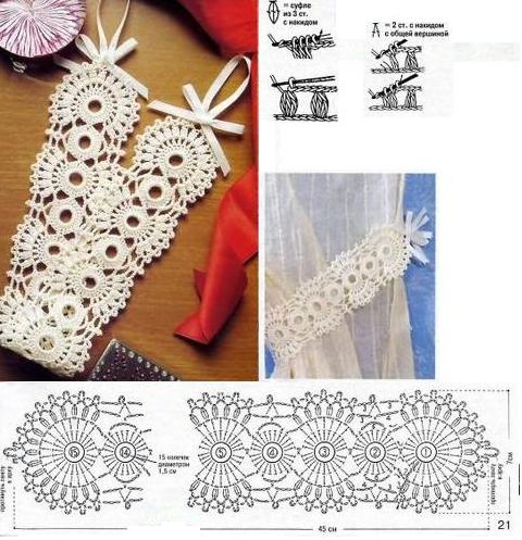Banda Agarra Cortinas Patron Crochet